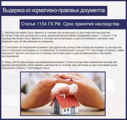 Гражданский кодекс статья 1154 могу добраться